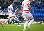 St Johnstone v Hamilton Accies...12.09.15  SPFL McDiarmid Park, Perth<br /> Liam Craig scores St Johnstone's first goal<br /> Picture by Graeme Hart.<br /> Copyright Perthshire Picture Agency<br /> Tel: 01738 623350  Mobile: 07990 594431