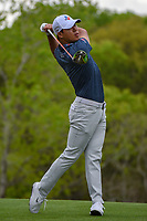 Si Woo Kim (KOR) watches his tee shot on 3 during day 3 of the WGC Dell Match Play, at the Austin Country Club, Austin, Texas, USA. 3/29/2019.<br /> Picture: Golffile | Ken Murray<br /> <br /> <br /> All photo usage must carry mandatory copyright credit (© Golffile | Ken Murray)