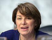 "United States Senator Amy Klobuchar (Democrat of Minnesota) joins the debate about the release of documents designated ""committee confidential"" prior to the US Senate Judiciary Committee beginning the third day of testimony from Judge Brett Kavanaugh on his nomination as Associate Justice of the US Supreme Court to replace the retiring Justice Anthony Kennedy on Capitol Hill in Washington, DC on Thursday, September 6, 2018.<br /> Credit: Ron Sachs / CNP<br /> (RESTRICTION: NO New York or New Jersey Newspapers or newspapers within a 75 mile radius of New York City)"