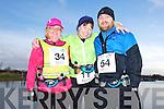 Ann O'Shea, Loretto O'Sullivan and Brian O'Shea at the Valentines 10 mile road race in Tralee on Saturday.