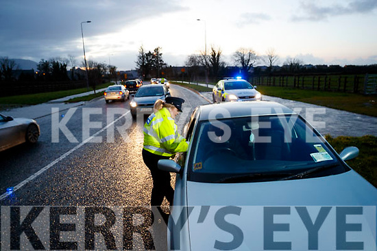 Garda Murial O'Riordan manning a Checkpoint in Tralee.