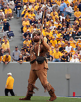 September 4, 2010:  WVU Mountaineer. The West Virginia Mountaineers defeated the Coastal Carolina Chanticleers 31-0 on September 4, 2010 at Mountaineer Field, Morgantown, West Virginia.
