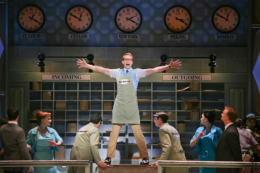 Preview performance of HOW TO SUCCEED IN BUSINESS WITHOUT REALLY TRYING.    Al Hirschfeld Theatre.  Photo by Ari Mintz  3/8/2011.
