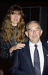 Carol alt and Robin Leach on December 3, 1989 in New York City.