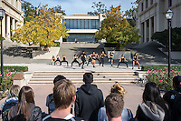 Hyper Xpressions dance group performs in the quad during lunch, Dec. 3, 2015.<br />