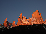 Early morning peek of the Fitz Roy