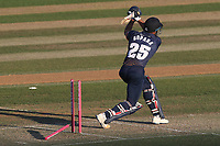 Ravi Bopara of Essex is bowled out by Thomas Oxley during Essex Eagles vs Premier Leagues XI, Friendly Match Cricket at The Cloudfm County Ground on 2nd July 2018