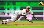 1 May 2011: San Francisco Giants outfielder Darren Ford in action against the Washington Nationals at Nationals Park in Washington, District of Columbia. The Nationals defeated the Giants 5-2. Mandatory Credit: Ed Wolfstein Photo