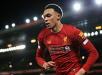 24th February 2020; Anfield, Liverpool, Merseyside, England; English Premier League Football, Liverpool versus West Ham United; Trent Alexander-Arnold of Liverpool