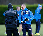 Kenny Miller in animated discussion with Kenny McDowall