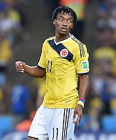 FUSSBALL WM 2014                ACHTELFINALE Kolumbien - Uruguay                  28.06.2014 Juan Guillermo Cuadrado (Kolumbien)