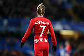 5th December 2017, Stamford Bridge, London, England; UEFA Champions League football, Chelsea versus Atletico Madrid; Antoine Griezmann of Atletico Madrid looks on at the action