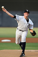 Tampa Yankees starting pitcher Sean Black #39 delivers a pitch during a game against the Clearwater Threshers at Steinbrenner Field on June 22, 2011 in Tampa, Florida.  The game was suspended due to rain in the 10th inning with a score of 2-2.  (Mike Janes/Four Seam Images)
