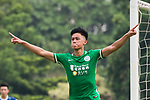 Chun Sing Yuen of Wofoo Tai Po celebrating his score during the week three Premier League match between BC Rangers and Wofoo Tai Po at Sham Shui Po Sports Ground on September 17, 2017 in Hong Kong, China. Photo by Marcio Rodrigo Machado / Power Sport Images