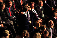 Des Smyth (Vice-Captain) and Jose Olazabal (Vice-Captain) during the Ryder Cup Gala Concert 2014 at SSE Hydro on Wednesday 24th September 2014.<br /> Picture:  Thos Caffrey / www.golffile.ie
