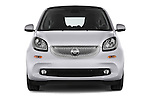 Car photography straight front view of a 2016 Smart fortwo prime 3 Door Micro Car Front View