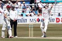 Simon Harmer of Essex in bowling action during Essex CCC vs Somerset CCC, Specsavers County Championship Division 1 Cricket at The Cloudfm County Ground on 27th June 2018