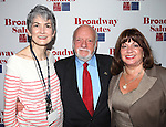 Nina Lannan & Hal Prince & Charlotte St. Martin attending the 'Broadway Salutes' honoring those who make Broadway Great at the Timers Square Visitors Center in Times Square,  New York City on 9/20/2012.