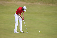Jeunghun Wang (KOR) on the 5th green during Round 3 of the Dubai Duty Free Irish Open at Ballyliffin Golf Club, Donegal on Saturday 7th July 2018.<br /> Picture:  Thos Caffrey / Golffile