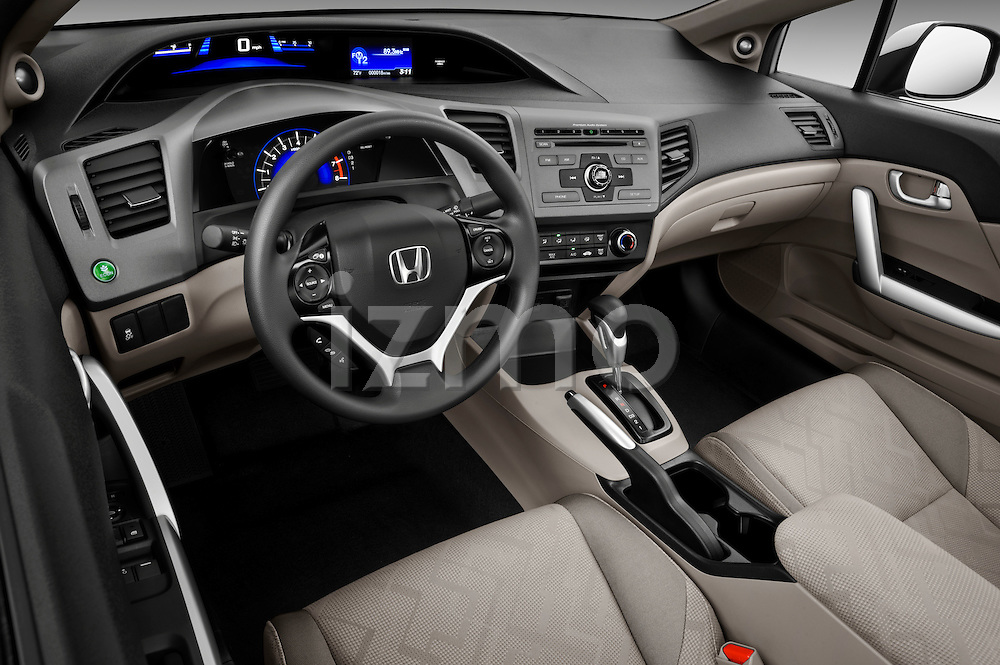 High angle dashboard view of a 2012 Honda Civic Coupe EX