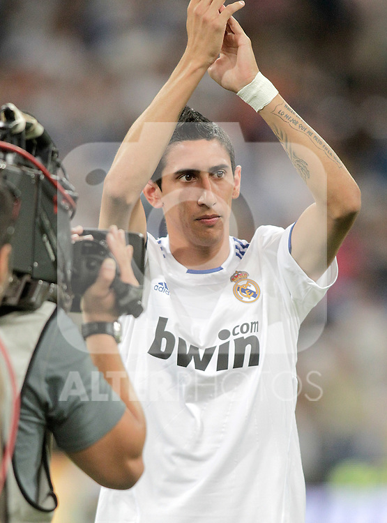 Real Madrid's Angel Di Maria during official presentation. August 24, 2010. (ALTERPHOTOS/Alvaro Hernandez)