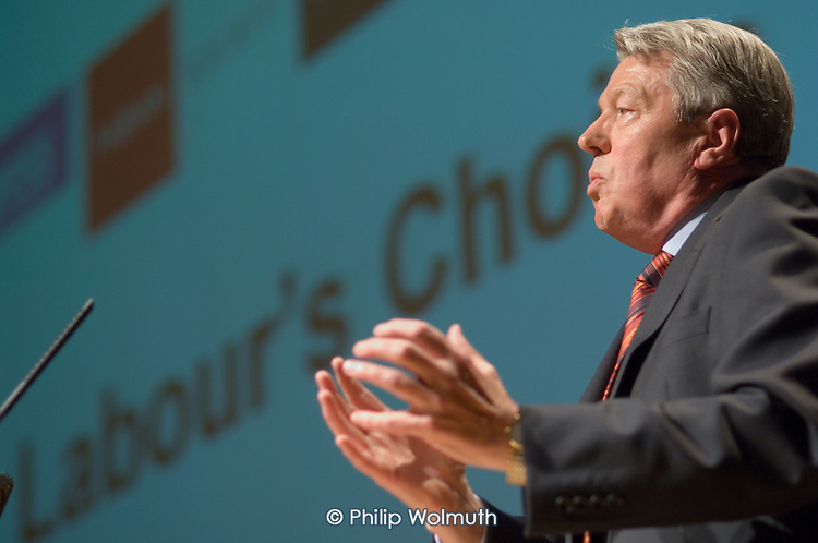 Alan Johnson MP, Secretary of State for Education,  speaks at a Fabian Society hustings meeting for candidates for the deputy leadership of the Labour Party.