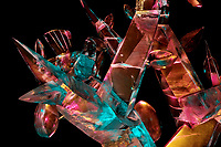 Ice Sculpture, Tree of Light, Single block 2004 World Ice Art Championships, Fairbanks Alaska.