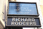 Theatre Marquee unveiling for Scarlett Johansson, Ciarán Hinds, Debra Monk & Benjamin Walker starring in the Broadway Revival of 'Cat on a Hot Tin Roof' at the Richard Rodgers Theatre in New York City on 11/05/2012
