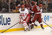 Gabriel Chabot (BU - 10), Jacob Olson (Harvard - 26), Adam Fox (Harvard - 18), Chase Phelps (BU - 12) - The Harvard University Crimson defeated the Boston University Terriers 6-3 (EN) to win the 2017 Beanpot on Monday, February 13, 2017, at TD Garden in Boston, Massachusetts.