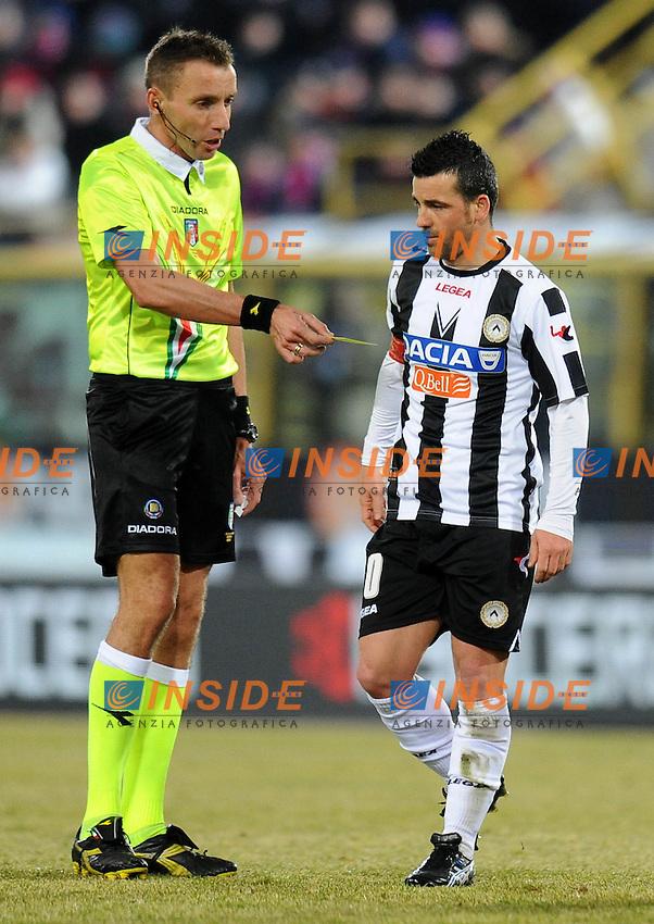 """MAZZOLENI, Antonio DI NATALE (Udinese).Bologna 26/02/2012 Stadio """"Renato Dall Ara"""".Serie A 2011/2012.Football Calcio Bologna Vs Udinese.Foto Insidefoto Alessandro Sabattini."""