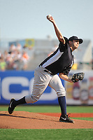 Staten Island Yankees pitcher David Palladino (62) during game against the Brooklyn Cyclones at MCU Park on June 29, 2014 in Brooklyn, NY.  Staten Island defeated Brooklyn 5-4.  (Tomasso DeRosa/Four Seam Images)