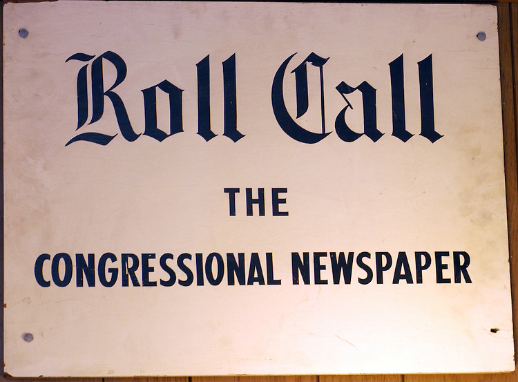 "The origianl ""ROLL CALL"" sign at the first office ."