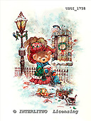 GIORDANO, CHRISTMAS ANIMALS, WEIHNACHTEN TIERE, NAVIDAD ANIMALES, Teddies, paintings+++++,USGI1758,#XA#