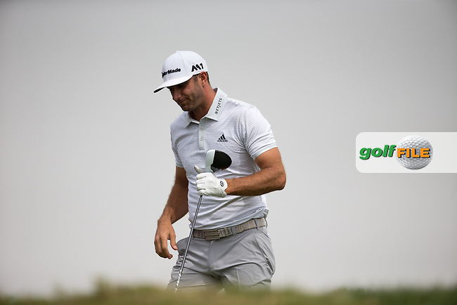 Dustin Johnson (USA) on the 3rd tee during the final round of the Abu Dhabi HSBC Championship, Abu Dhabi Golf Club, Abu Dhabi,  United Arab Emirates. 22/01/2017<br /> Picture: Golffile | Fran Caffrey<br /> <br /> <br /> All photo usage must carry mandatory copyright credit (&copy; Golffile | Fran Caffrey)