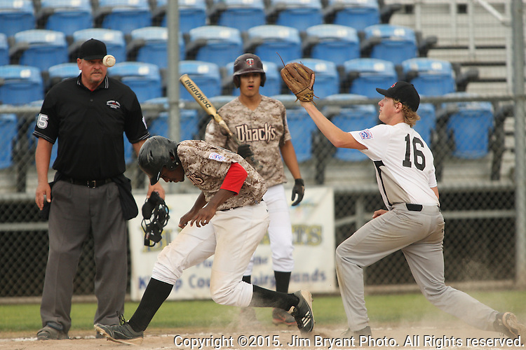 Hosts vs. AZ in game 4 of the 2015 West Central District 2 BLBB playoffs at Blue Jacket Stadium in Silverdale Washington. ©2015. Jim Bryant photo. All Rights Reserved.