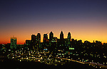 Philadelphia Skyline, Sunrise Silhouette from University of PA Hospital