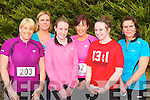 Running the An Riocht 5km race in Castleisland on Friday evening was l-r: Emma O'Shea Keel, Karen Nagle Castlemaine, Tara Piggot, Katy Ladden Keel, Niamh Ladden Castlemaine and Mary Anne Piggot Castlemaine..