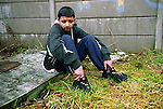 Qasim, aged 12.  He ran away because of personal issues that had affected his family which led to them becoming homeless and also because of a group of bullies who were pressuring Qasim become part of their gang and he didn't want too.<br /> <br /> Each year more than 100,000 children run away from home or care in the UK. <br /> <br /> In Britain there is an ever growing tide of children who run away and a ruthlessly efficient group of predators are willing to prey on them. With 66% of parents or carers not reporting their children missing to the police, the most vulnerable are the most unprotected.<br /> <br /> Runaway children go the heart of how society deals with its most vulnerable and troubled teenagers. Some are running away from problems, while others are running headlong towards them. When on the run they are exposed to drugs, organised crime, sexual exploitation and trafficking networks.<br /> <br /> In a recent report by The Childrens Society, one in six runaways say they were forced to sleep rough or with strangers. With adult refuges turning away anyone under the age of 18, there are only ten refuge beds in the entire country for children on the streets.<br /> <br /> In this photo essay and FIVE news report, I have documented some of the most prolific young runaways in the UK, running over 80 times a year. <br /> <br /> &copy; Hazel Thompson.