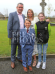 Callum Ryan Who received first holy communion in St Cianan's church Duleek with his family Martin, Catherine and Lauren.<br /> <br /> Photo-Jenny Matthews