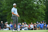 Jon Rahm (ESP) reacts to barely missing his eagle putt on 7 during Rd3 of the 2019 BMW Championship, Medinah Golf Club, Chicago, Illinois, USA. 8/17/2019.<br /> Picture Ken Murray / Golffile.ie<br /> <br /> All photo usage must carry mandatory copyright credit (© Golffile   Ken Murray)
