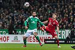 01.12.2018, Weserstadion, Bremen, GER, 1.FBL, Werder Bremen vs FC Bayern Muenchen<br /> <br /> DFL REGULATIONS PROHIBIT ANY USE OF PHOTOGRAPHS AS IMAGE SEQUENCES AND/OR QUASI-VIDEO.<br /> <br /> im Bild / picture shows<br /> Claudio Pizarro (Werder Bremen #04) im Duell / im Zweikampf mit Joshua Kimmich (FC Bayern Muenchen #32), <br /> <br /> Foto &copy; nordphoto / Ewert