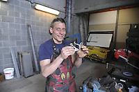 Trezzano sul Naviglio (Milano) - Ri-Maflow, fabbrica recuperata e autogestita dagli ex dipendenti, officina di fabbro<br /> <br /> Trezzano sul Naviglio (Milan) - Rimaflow, recuperated factory and self-managed by former employees, workshop of blacksmith