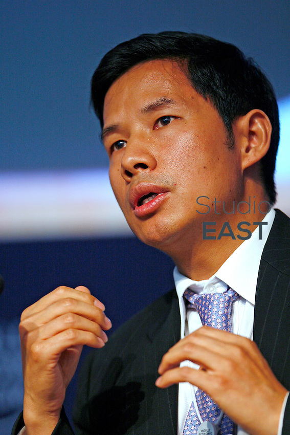 Fred Zuliu Hu, Managing Director of Goldman Sachs (Asia) Hong Kong SAR, speaks during a conference at the World Economic Forum in Dalian, Liaoning province, China on Thursday, 06 September, 2007. Photo by Qilai Shen/Pictobank