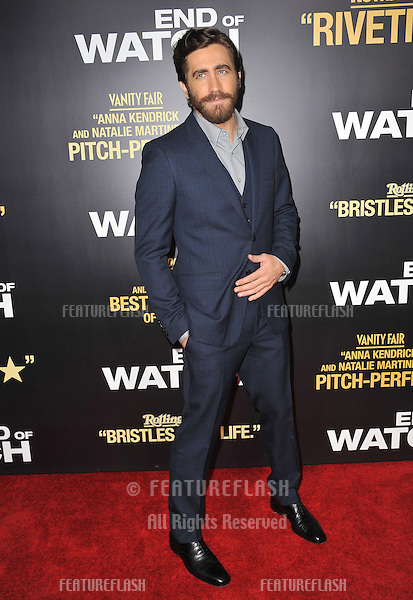 "Jake Gyllenhaal at the premiere of his movie ""End of Watch"" at the Regal Cinemas LA Live..September 17, 2012  Los Angeles, CA.Picture: Paul Smith / Featureflash"