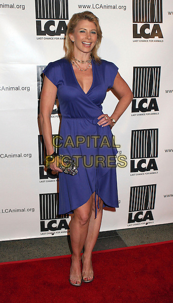 "TAMIE SHEFFIELD.Premiere of HBO Undercover's ""Dealing Dogs"", Hollywood, California, USA..March 26th, 2006.Photo: Byron Purvis/AdMedia/Capital Pictures.Ref: BP/ADM.full length purple dress wrap.www.capitalpictures.com.sales@capitalpictures.com.© Capital Pictures."