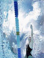Norwegian national swimming team training in an outdoor  pool. Frognerbadet, Oslo, Norway..© Fredrik Naumann/Felix Features