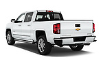 Car pictures of rear three quarter view of 2017 Chevrolet Silverado-1500 High-Country-Crew 4 Door Pickup Angular Rear