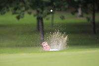 Gary Ward (Kinsale) in a bunker on the 1st during the AIG Barton Shield Munster Final 2018 at Thurles Golf Club, Thurles, Co. Tipperary on Sunday 19th August 2018.<br /> Picture:  Thos Caffrey / www.golffile.ie<br /> <br /> All photo usage must carry mandatory copyright credit (© Golffile   Thos Caffrey)