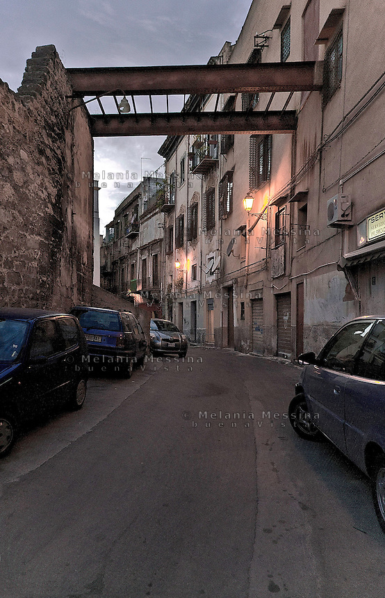 Palermo: an alley in the historic city center.<br />