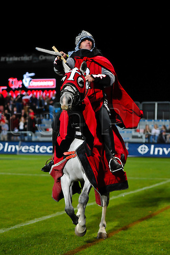 15.04.2016. Christchurch, New Zealand.  A horseman during the Super Rugby Match, Crusaders V Jaguares, AMI Stadium, Christchurch, New Zealand. 15th April 2016.
